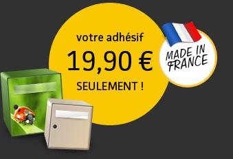 votre adhésif 19,90 € seulement - Made in France